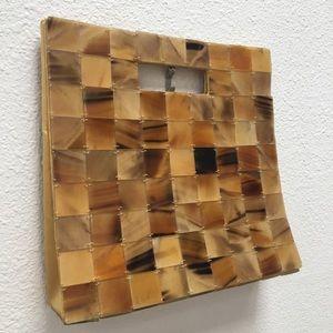 Handbags - Vintage 60's Tortoise Shell Square Tile Purse